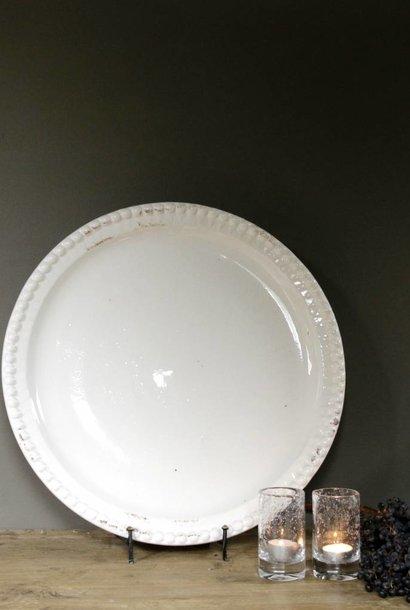 White ceramic bowl with machined studs
