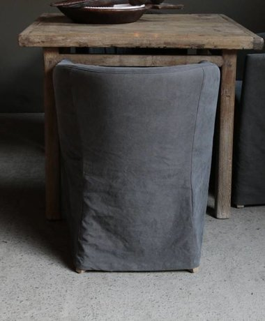 Cockpit chair with stonewash gray cover