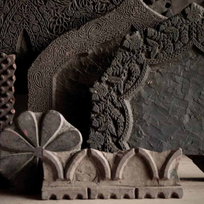 Oude houten Batik stempels
