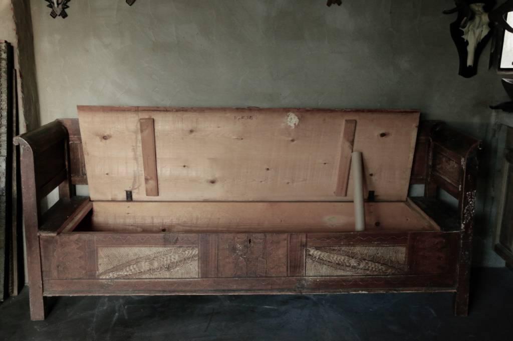 Antiek houten klepbank-5