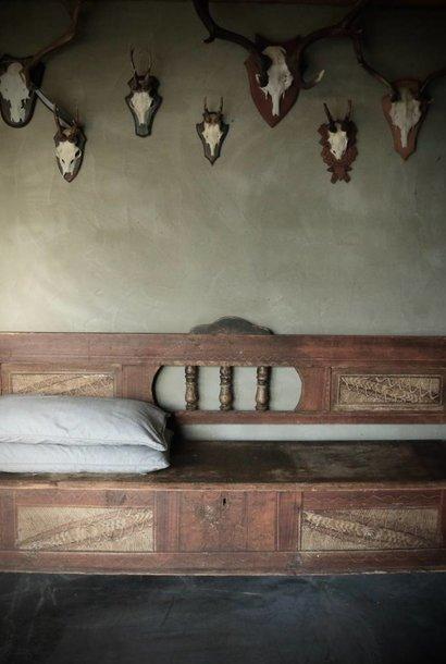 *Gereserveerd* Antiek houten klepbank