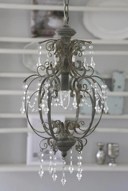Chandelier Old Look Gray (Stand in backorder)