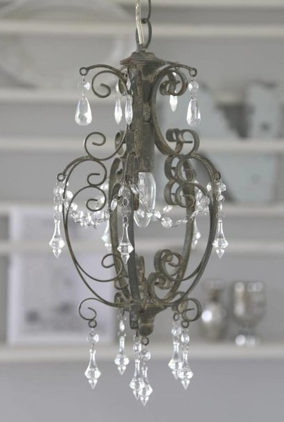 Chandelier Old Gray iron handmade