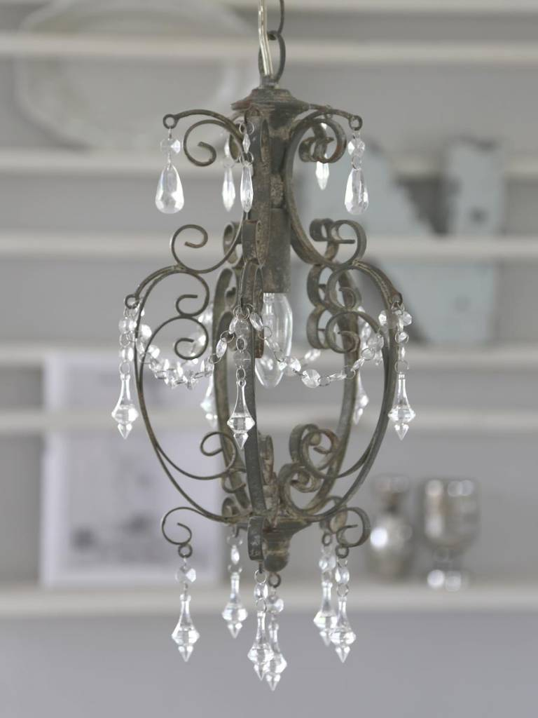 Chandelier Old Gray iron handmade-1