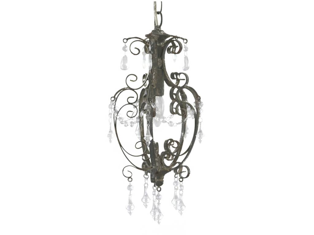 Chandelier Old Gray iron handmade-2