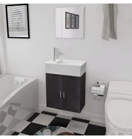 Driedelig badkamer meubel en wastafel set