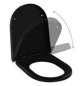 Toiletbril soft-close met quick-release ontwerp zwart