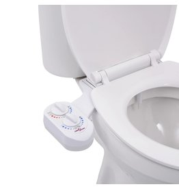Bidetaansluiting voor toiletbril warm/koud water enkel mondstuk
