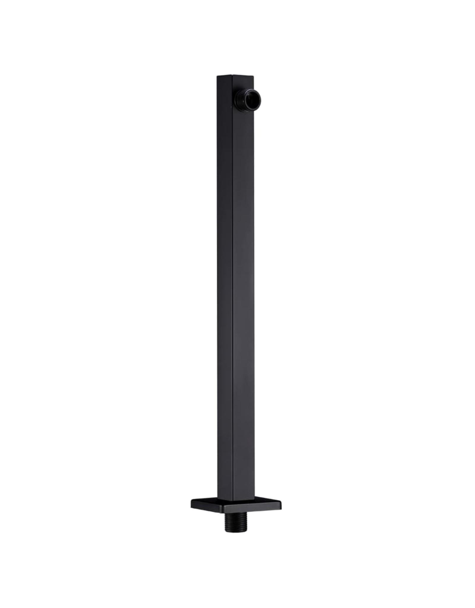 Douchearm vierkant 40 cm roestvrij staal 201 zwart