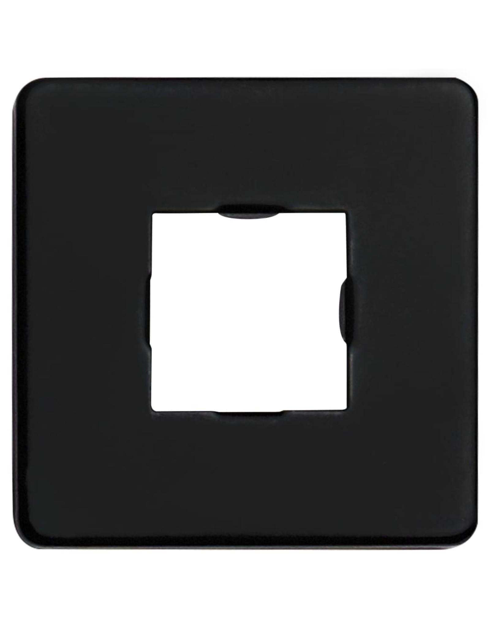 Douchearm vierkant 30 cm roestvrij staal 201 zwart