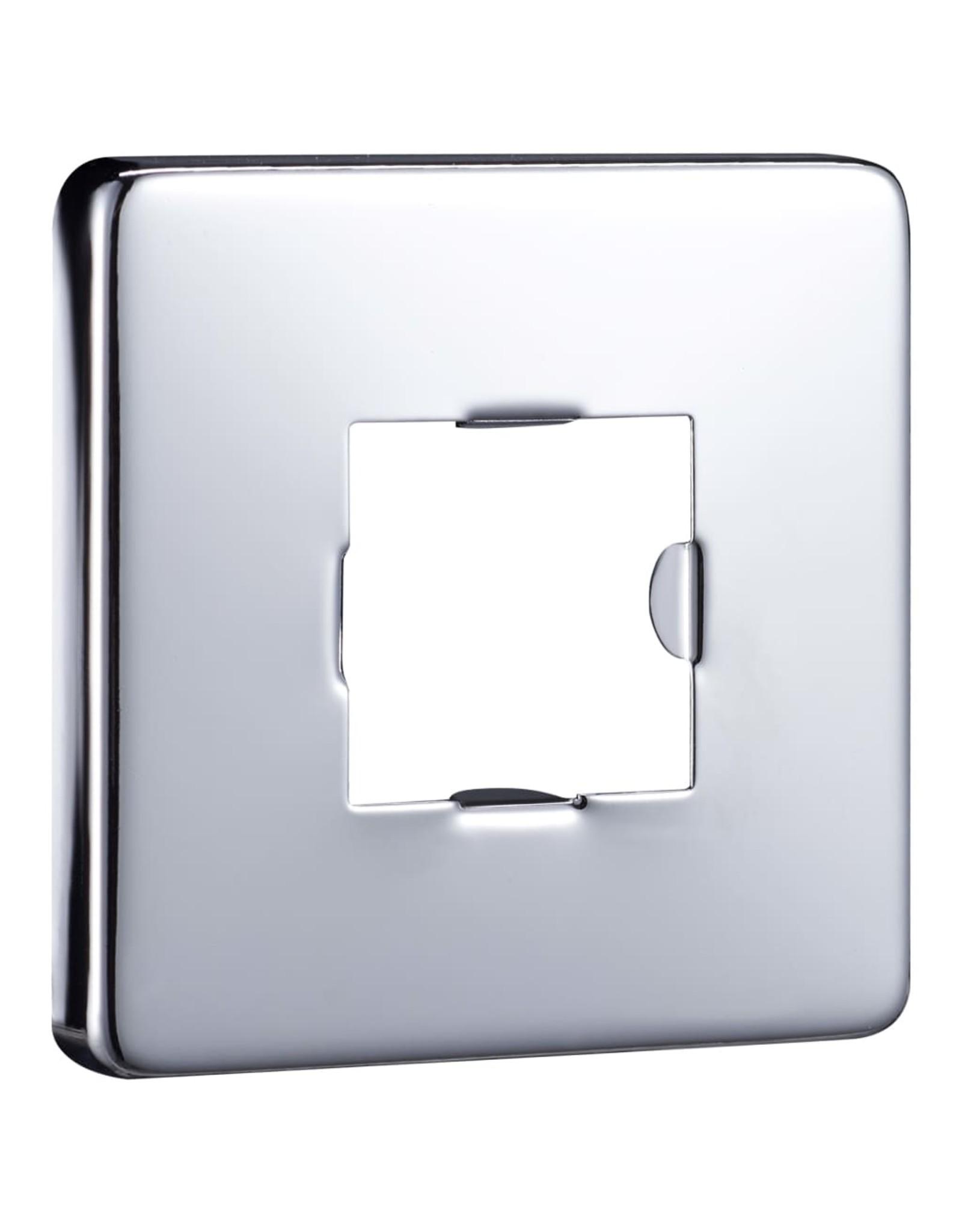 Douchearm vierkant 30 cm roestvrij staal 201 zilverkleurig
