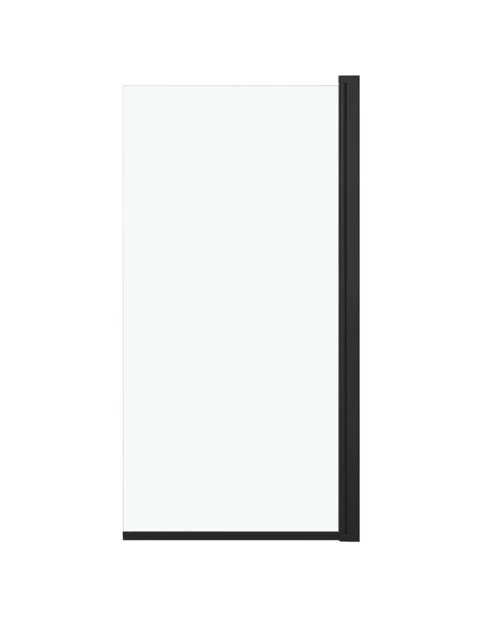 Douchewand 68x130 cm ESG zwart