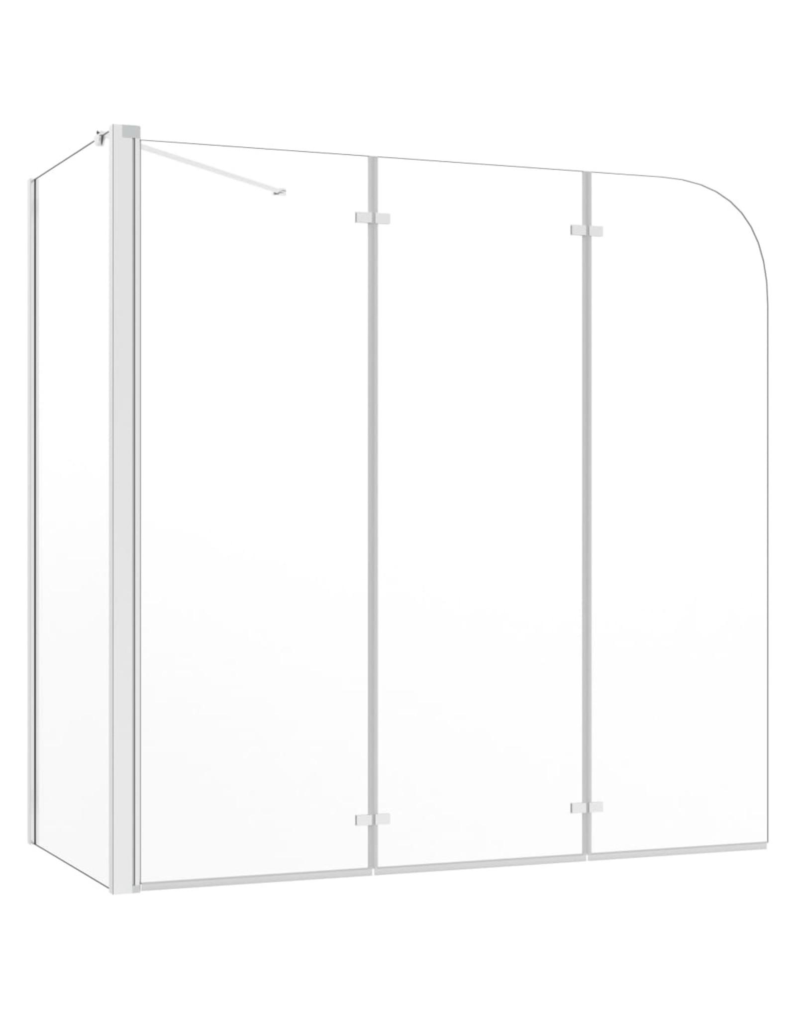 Badwand 120x69x130 cm gehard glas transparant