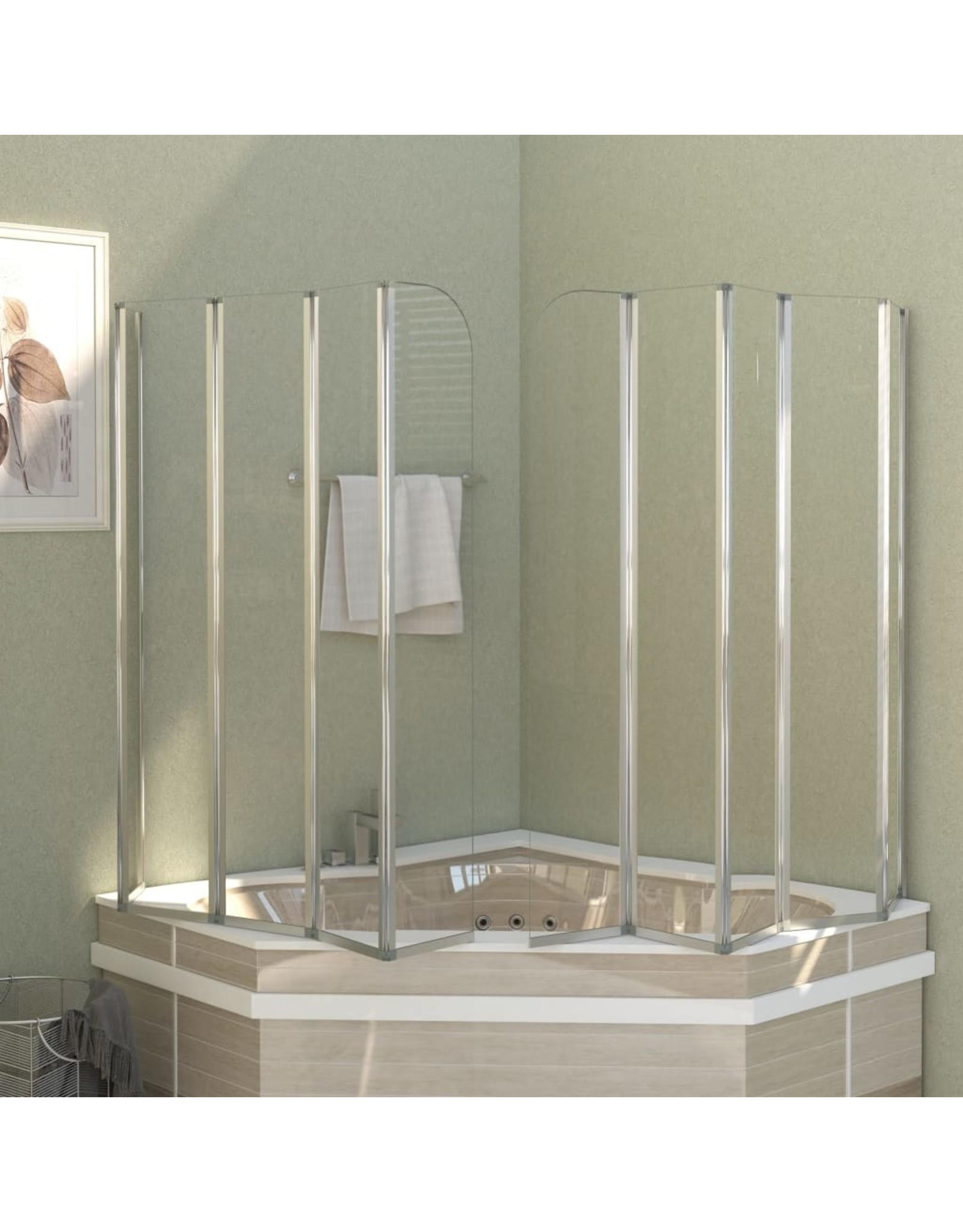 Badwand 120x140 cm gehard glas transparant