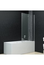 Douchewand inklapbaar 3 panelen 130x138 cm ESG