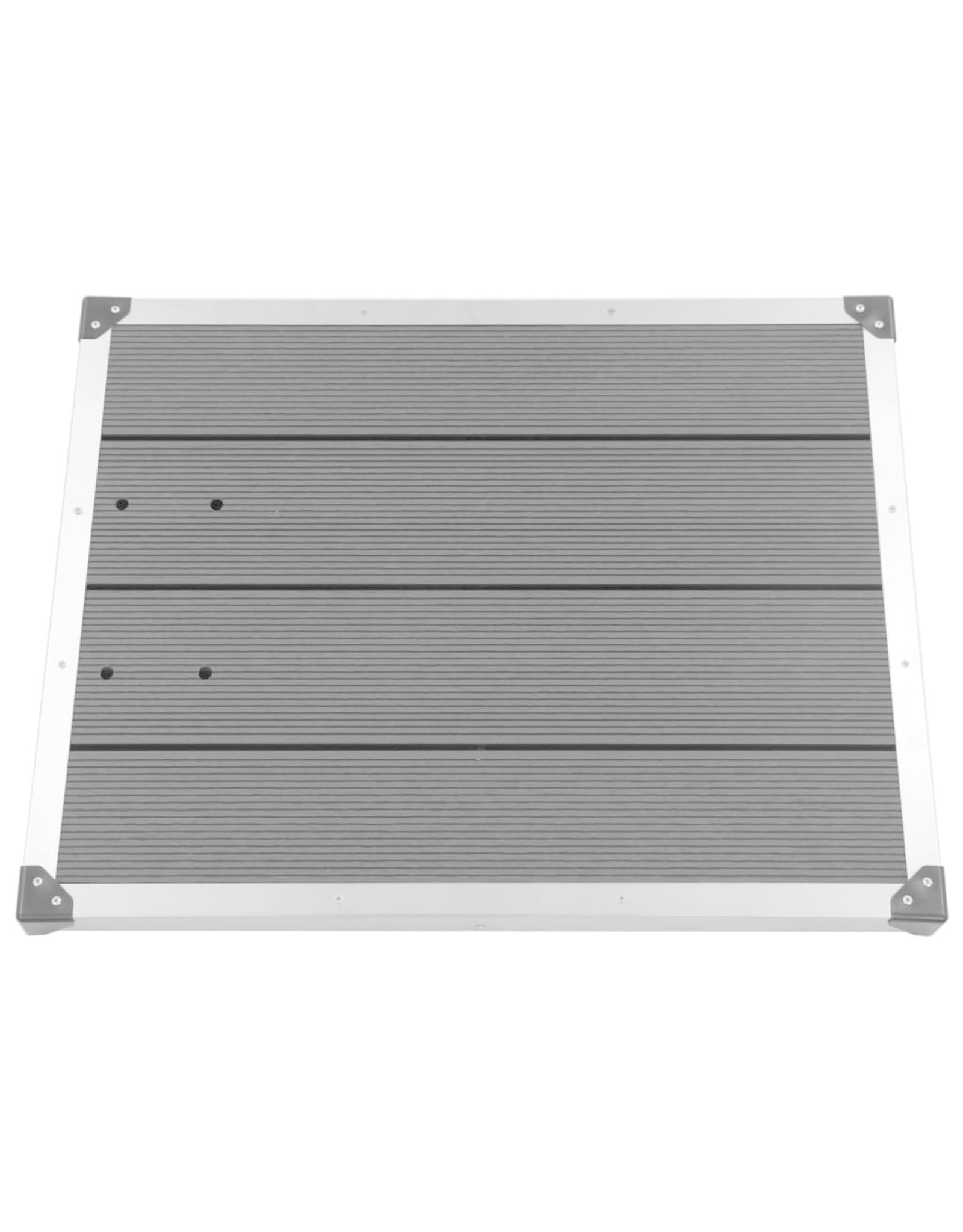 Buitendouchebak 80x62 cm HKC roestvrij staal grijs