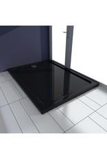 Douchebak 80x110 cm ABS zwart