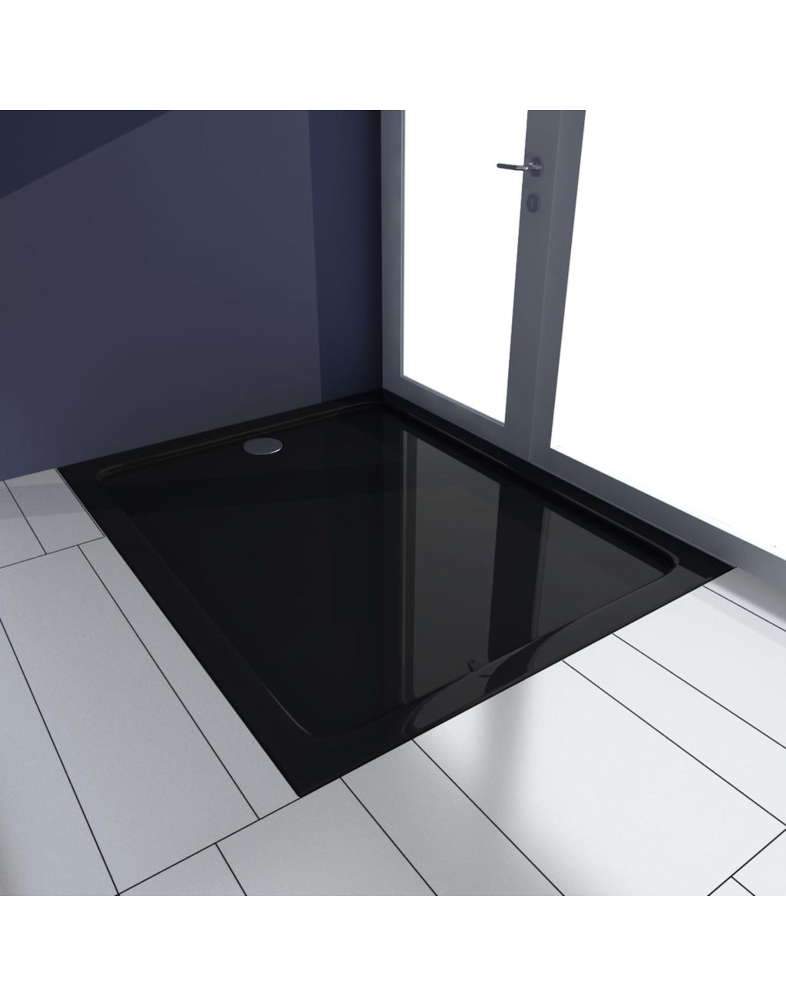 Douchebak 80x100 cm ABS zwart