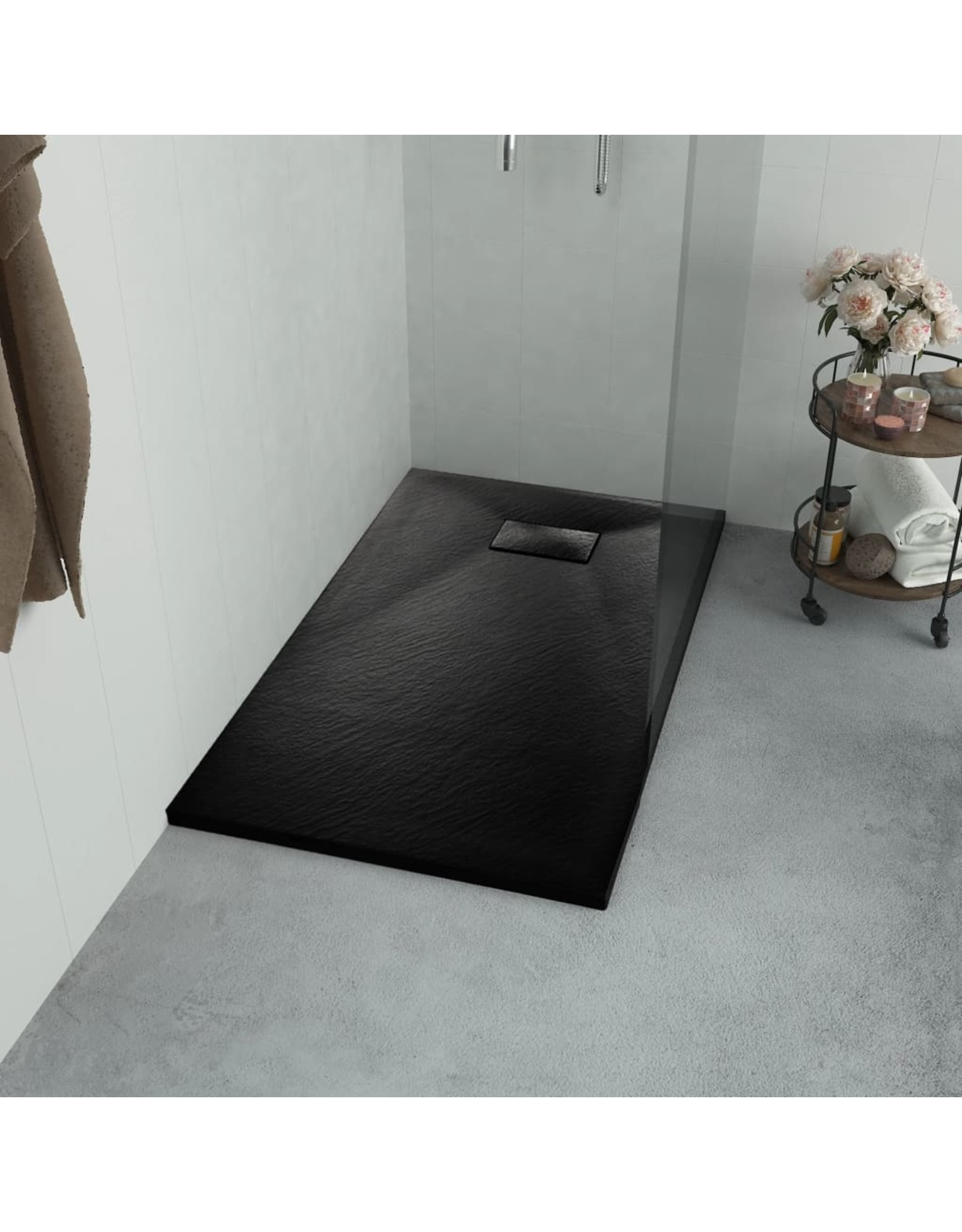 Douchebak 100x80 cm SMC zwart