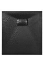 Douchebak 90x80 cm SMC zwart