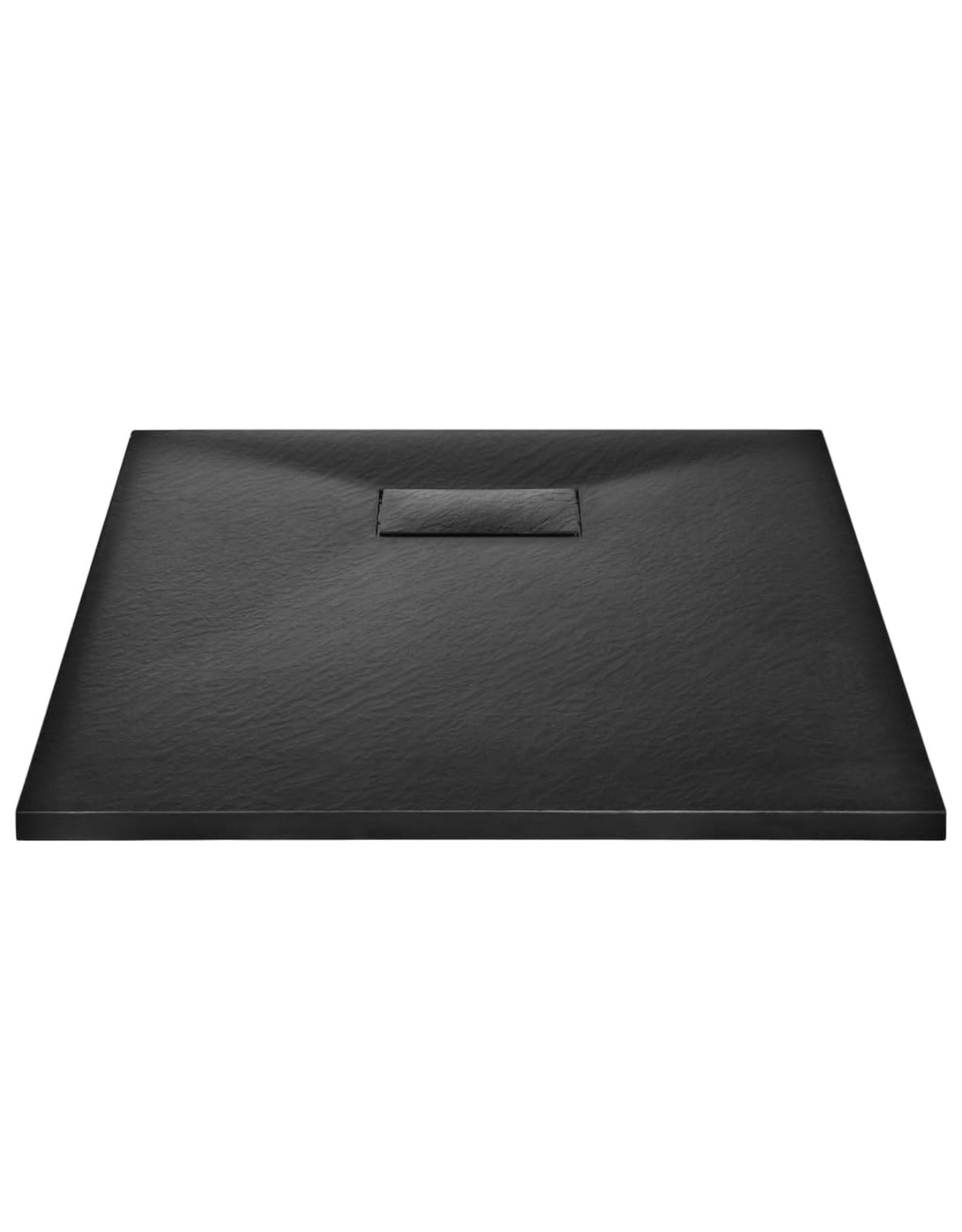 Douchebak 90x70 cm SMC zwart