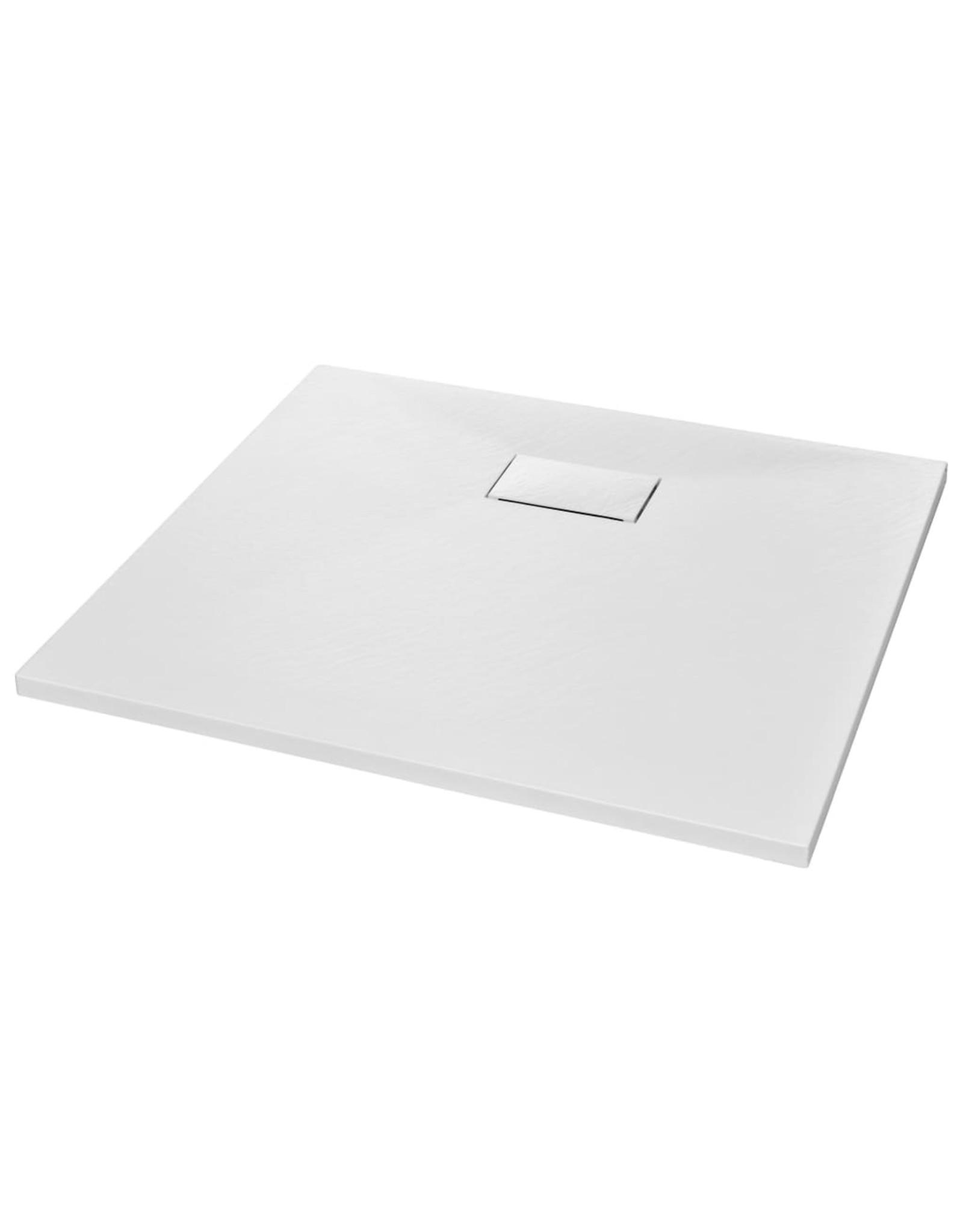 Douchebak 90x80 cm SMC wit