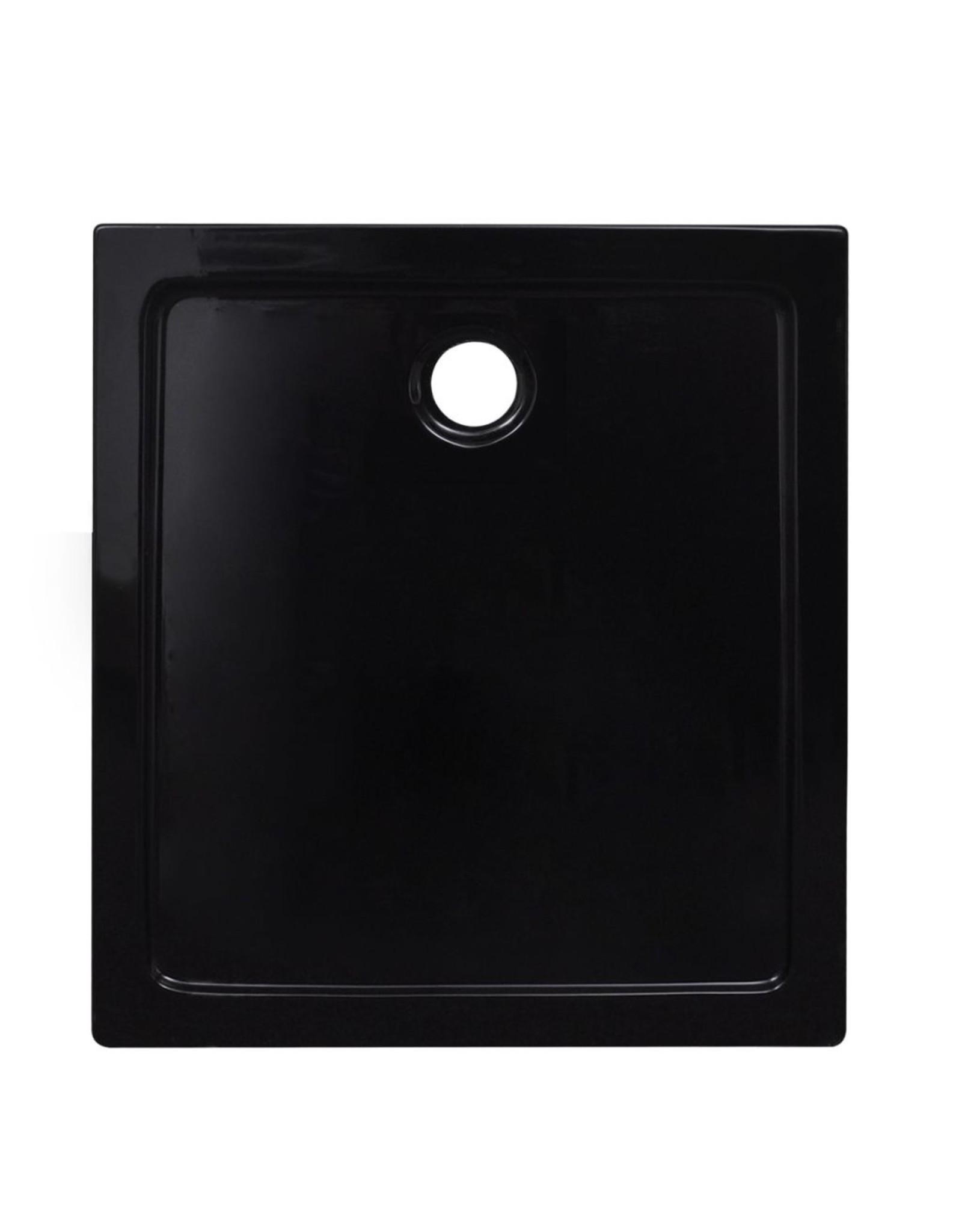 Douchebak rechthoekig 80x90 cm ABS zwart