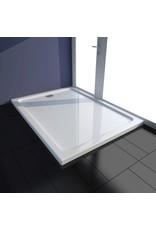 Douchebak rechthoekig 80x110 cm ABS wit
