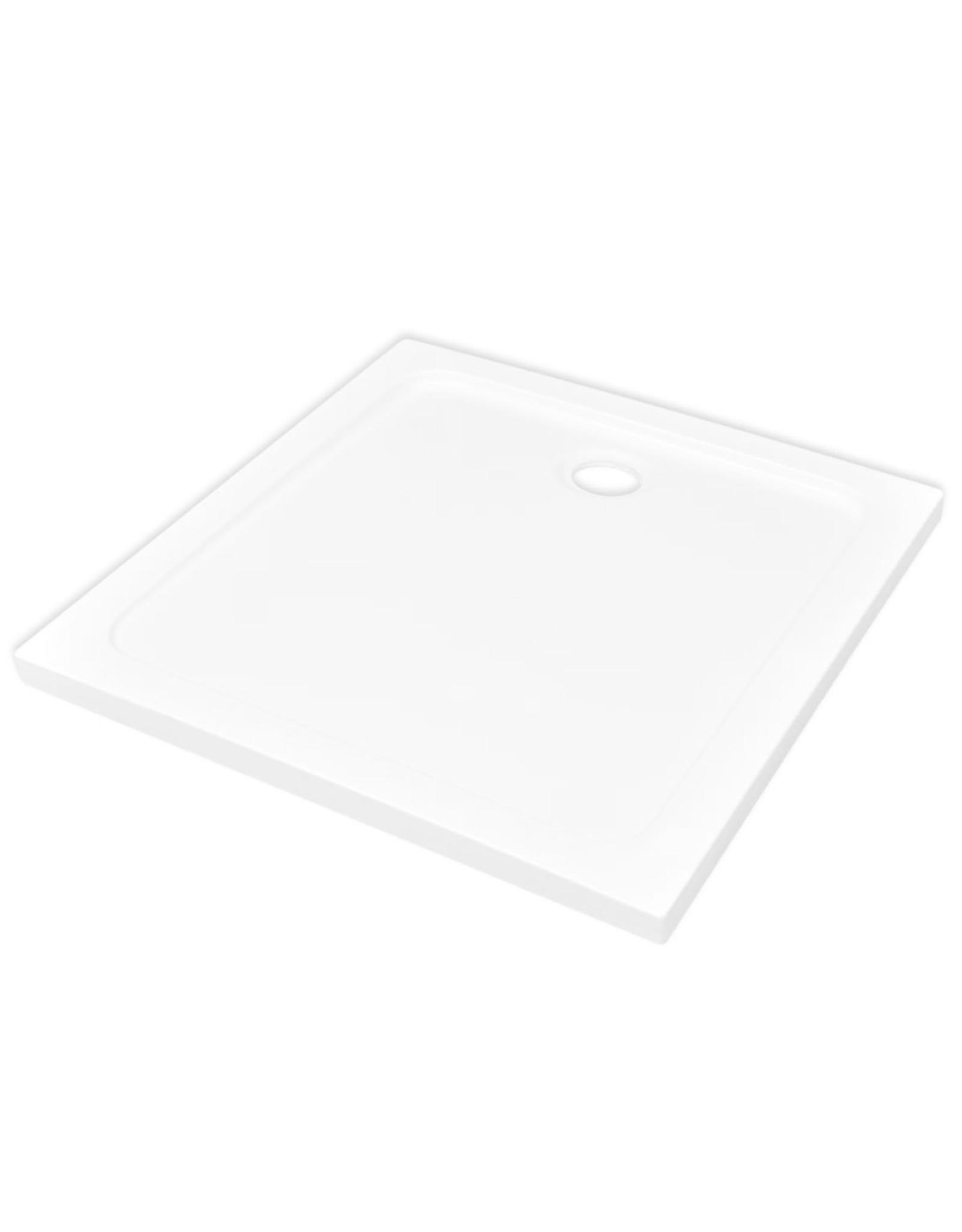 Douchebak vierkant 80x80 cm ABS wit
