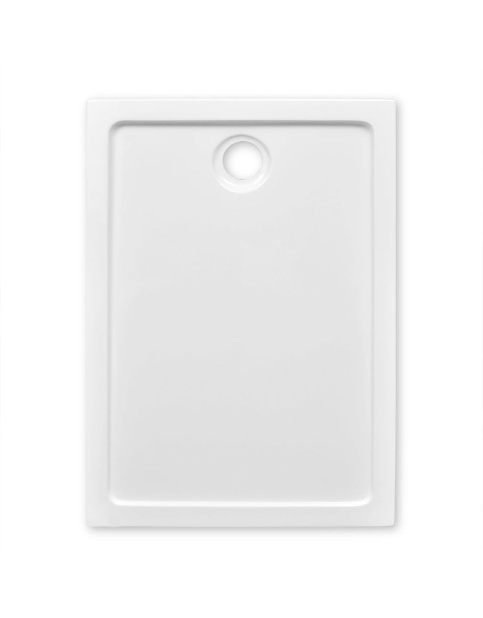 Douchebak rechthoekig 70x100 cm ABS wit