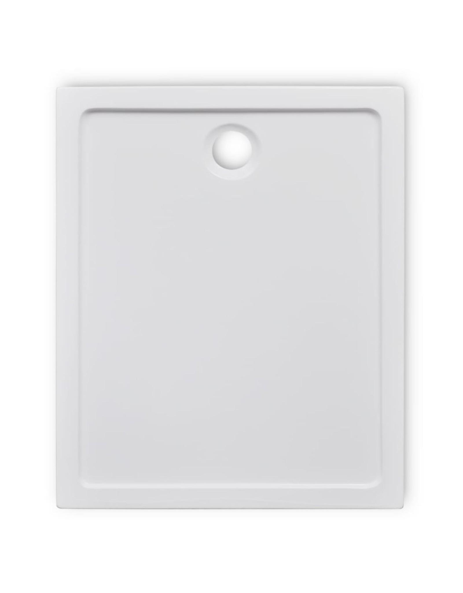 Douchebak rechthoekig 80x100 cm ABS