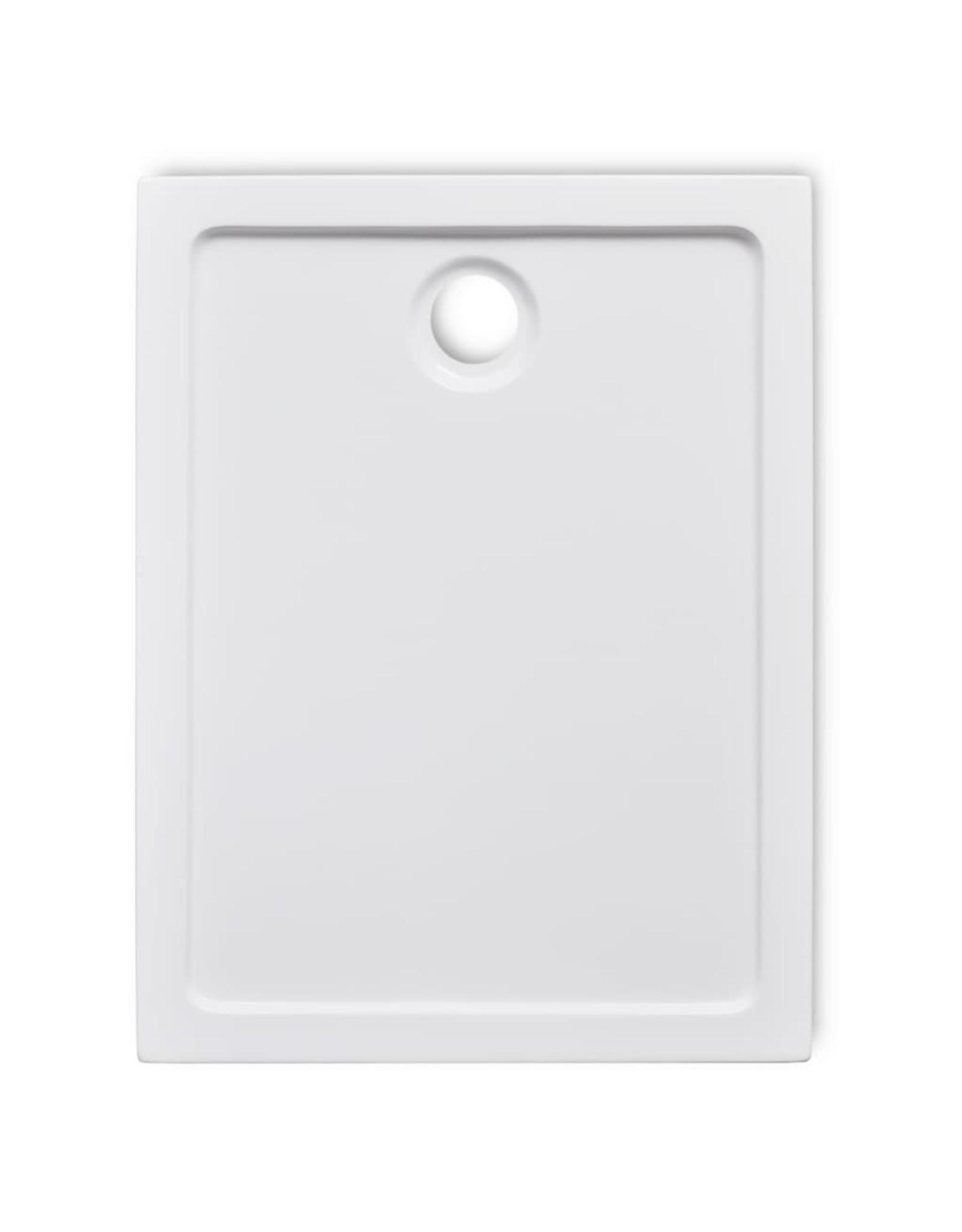 Douchebak rechthoekig 70x90 cm ABS