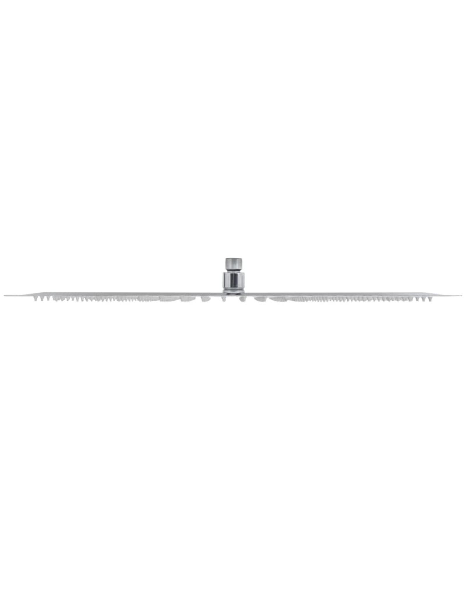 Regendouchekop 2 st 30x50 cm roestvrij staal
