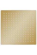 Regendouchekop vierkant 30x30 cm roestvrij staal goudkleurig
