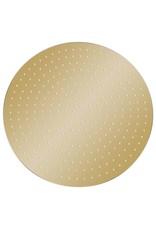 Regendouchekop rond 40 cm roestvrij staal goudkleurig