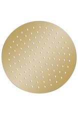 Regendouchekop rond 25 cm roestvrij staal goudkleurig