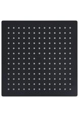 Regendouchekop vierkant 30x30 cm roestvrij staal zwart
