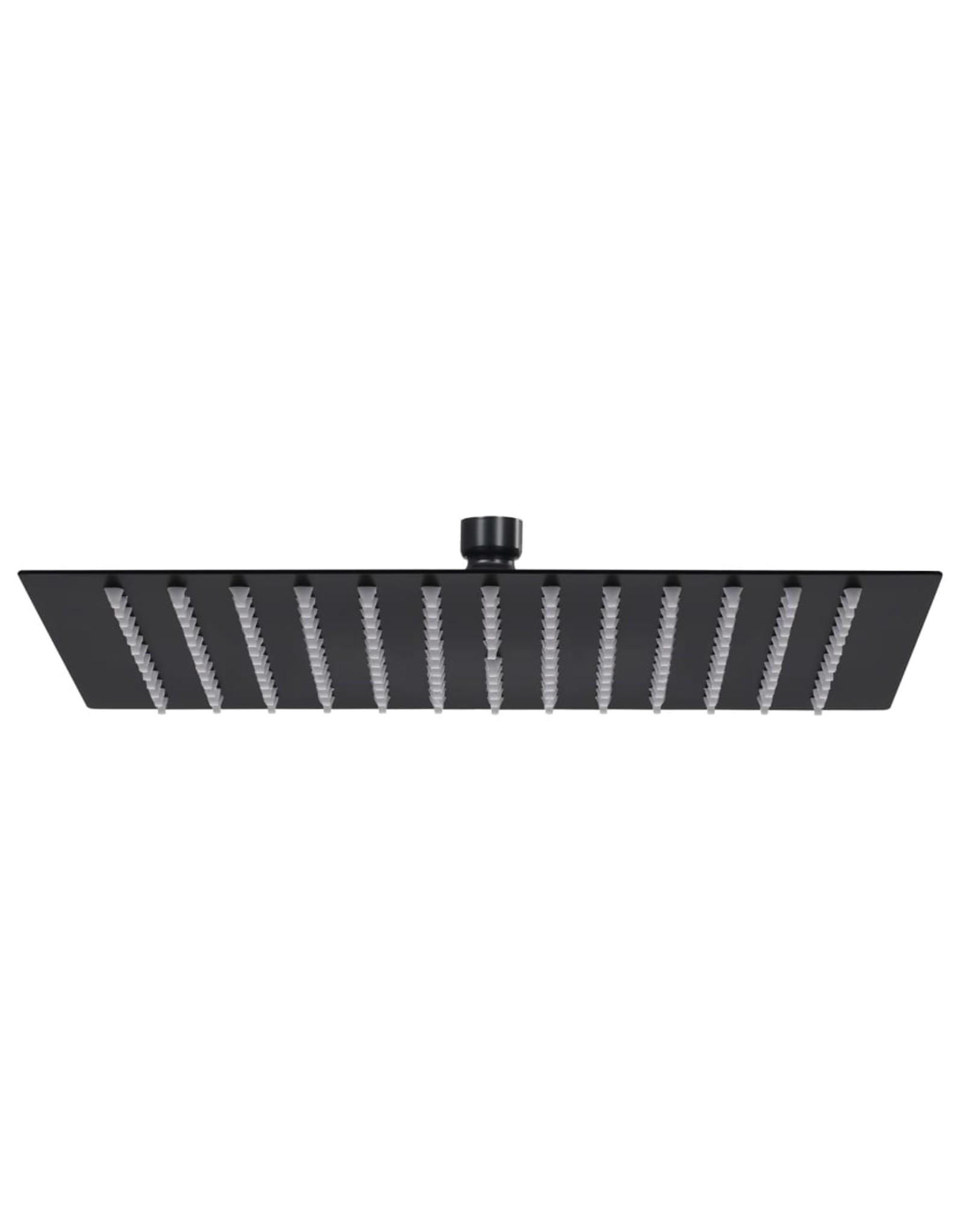 Regendouchekop vierkant 25x25 cm roestvrij staal zwart