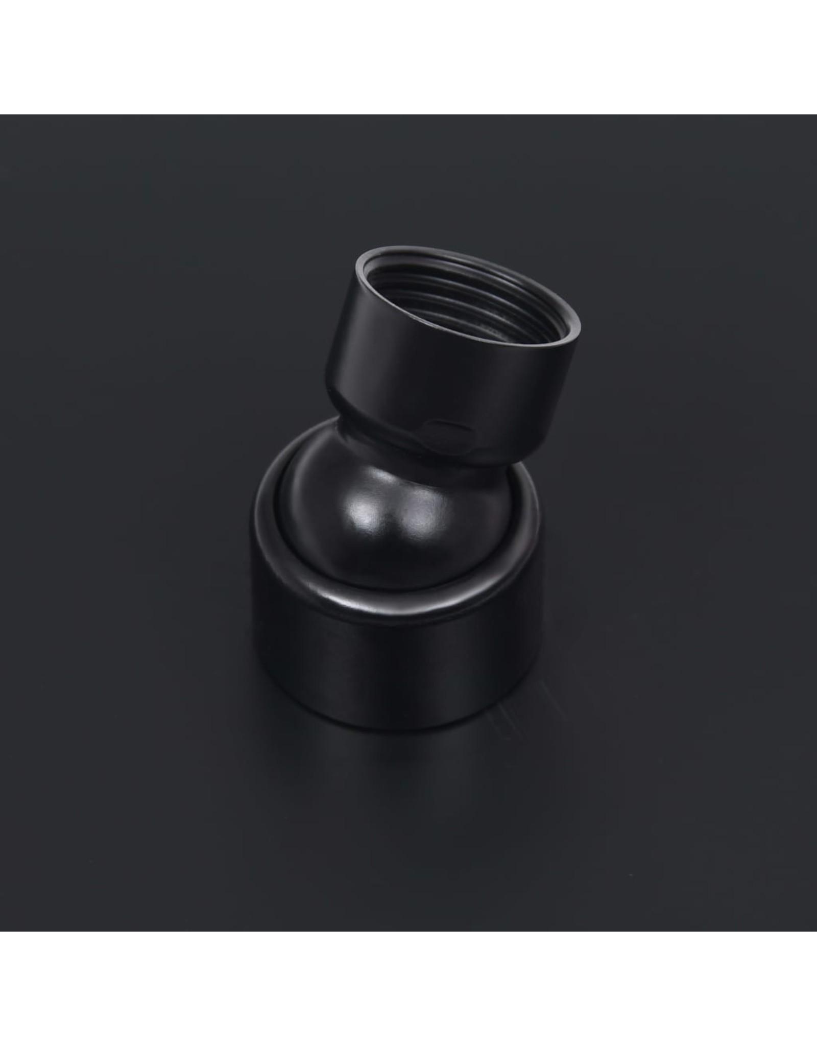 Regendouchekop rond 50 cm roestvrij staal zwart