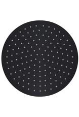 Regendouchekop rond 30 cm roestvrij staal zwart