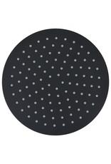 Regendouchekop rond 25 cm roestvrij staal zwart