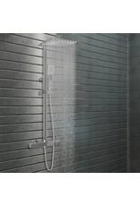 Douchekoppenset dubbel met thermostaat roestvrij staal