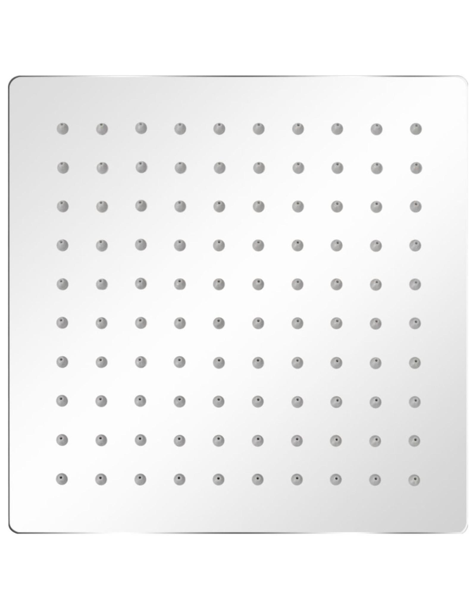 Regendouchekop roestvrij staal 20x20 cm vierkant