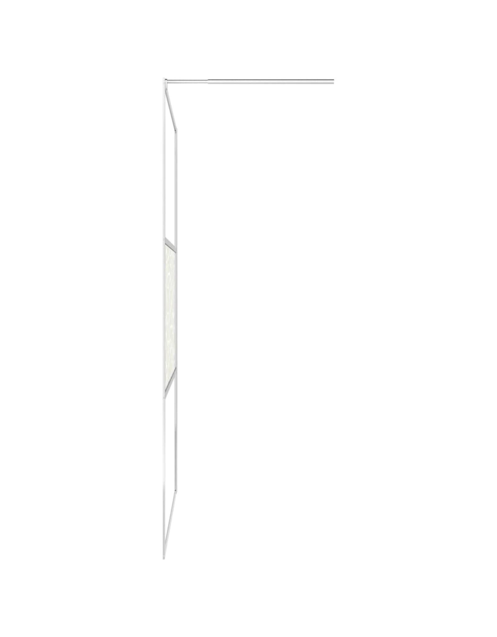Inloopdouchewand met stenenmotief 100x195 cm ESG-glas