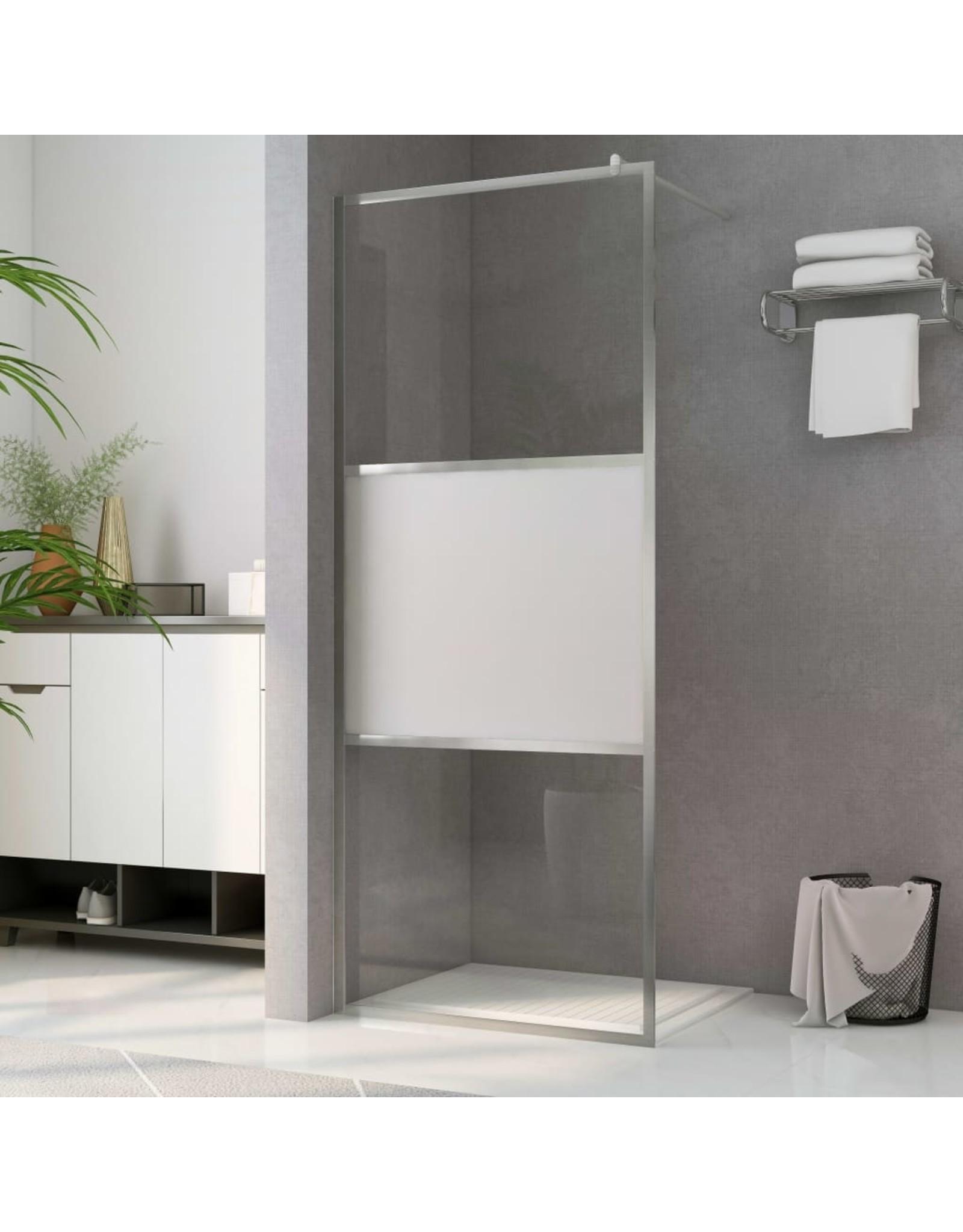 Inloopdouchewand halfmat 115x195 cm ESG-glas