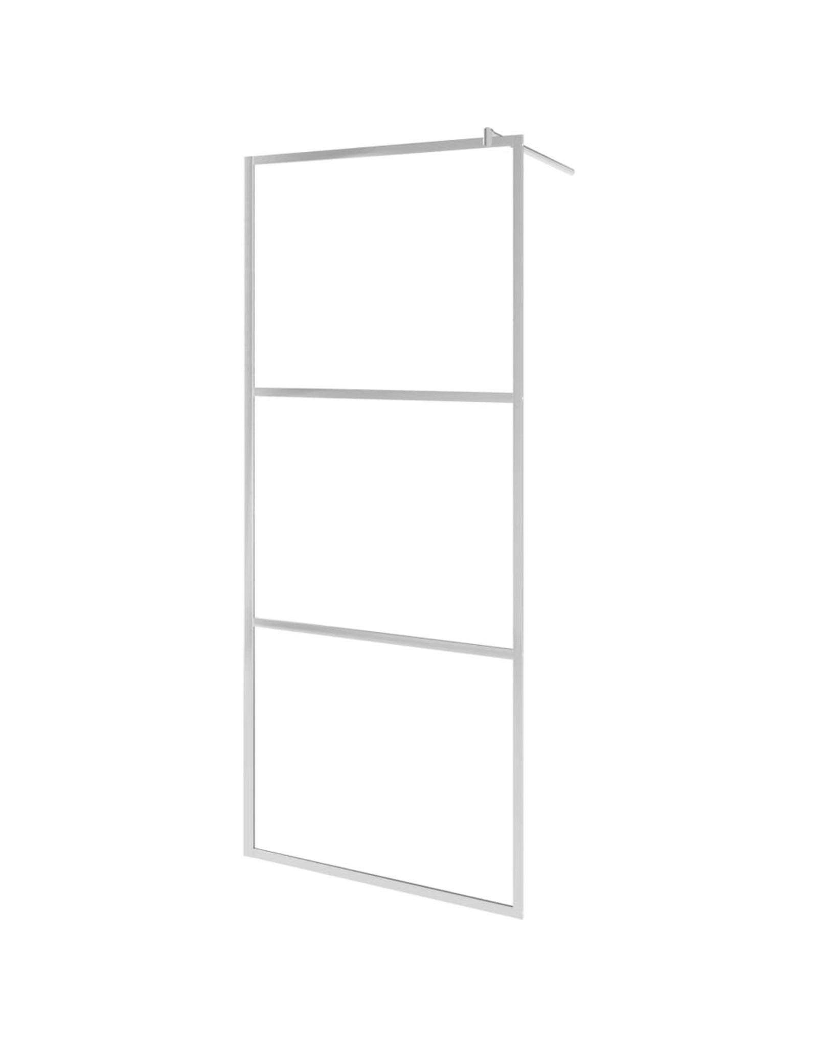 Inloopdouchewand halfmat 100x195 cm ESG-glas