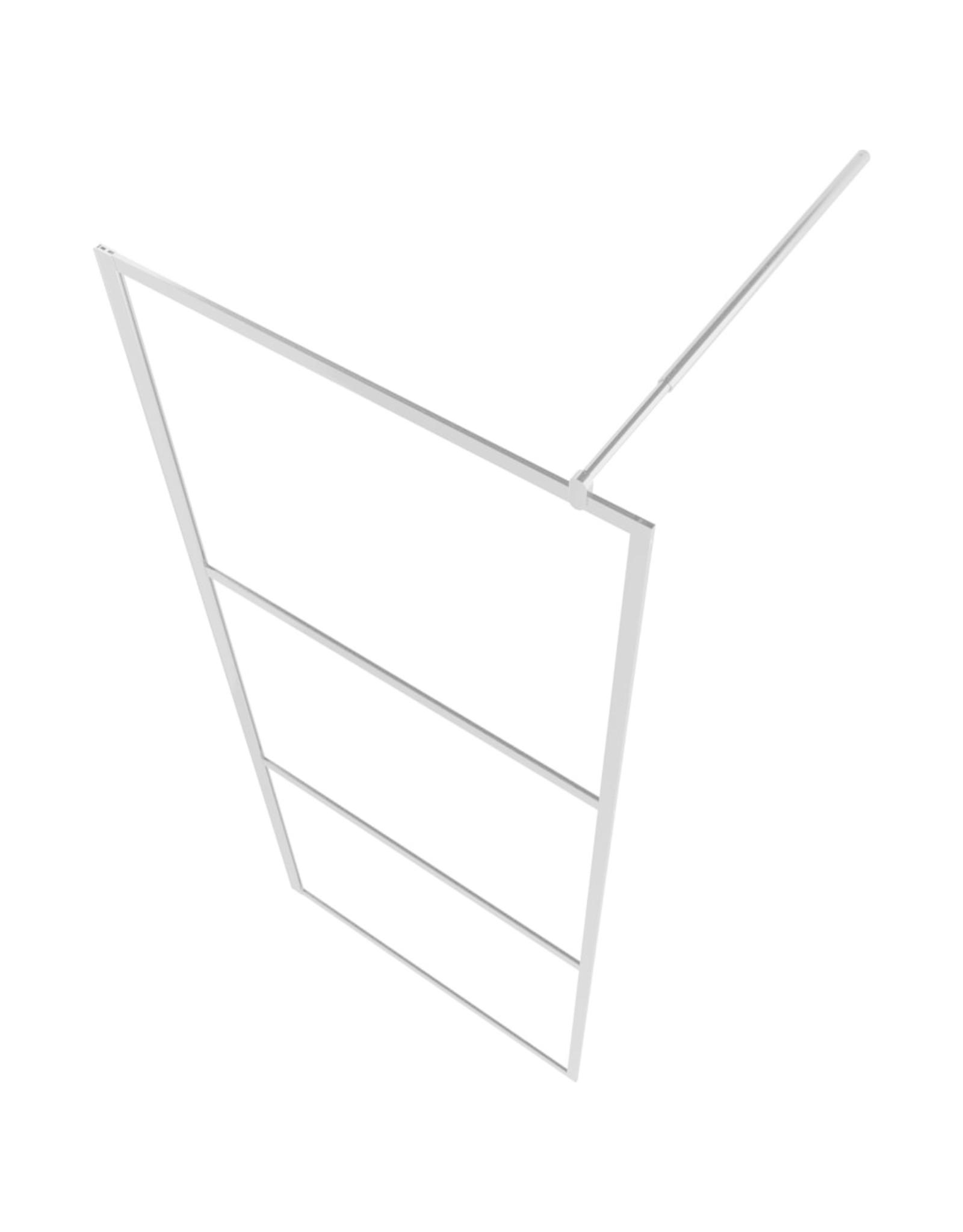 Inloopdouchewand transparant 140x195 cm ESG-glas