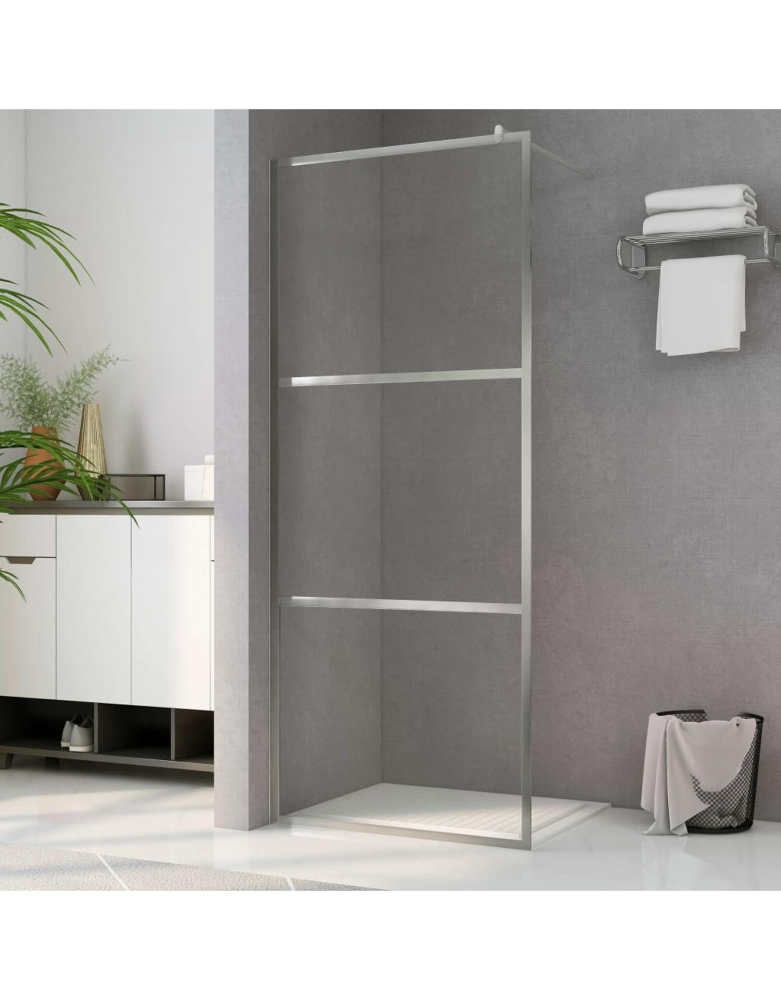 Inloopdouchewand transparant 80x195 cm ESG-glas