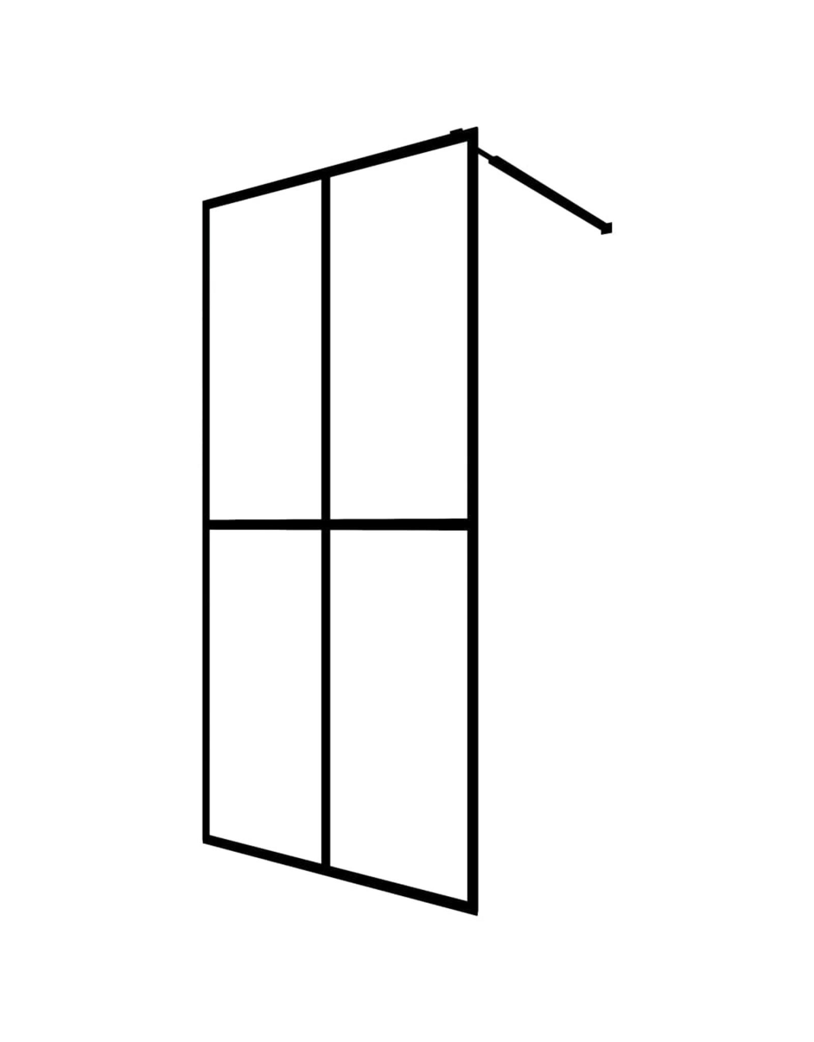 Inloopdouchewand 140x195 cm gehard glas