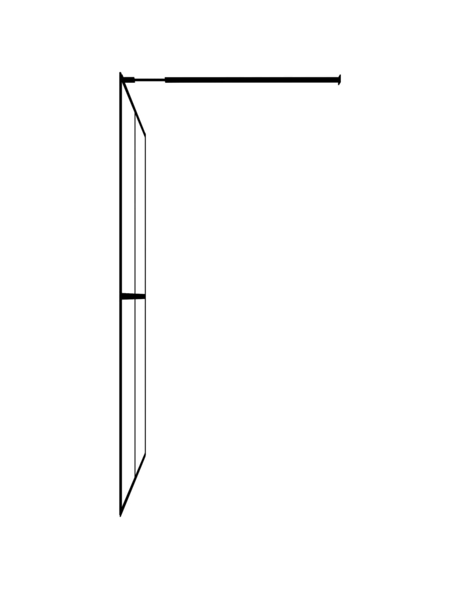 Inloopdouchewand 100x195 cm gehard glas